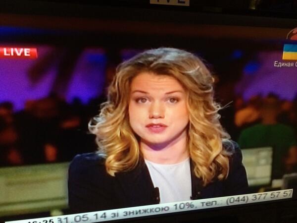 Our Euronews Ukrainian Journalist Sasha Vakulina Live Now On The National Tv Of Ukraine