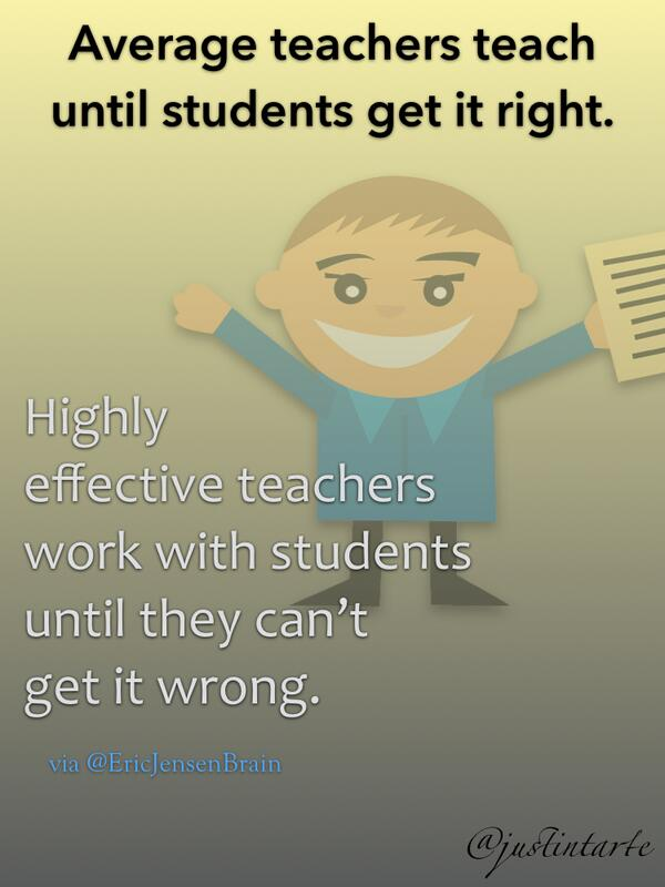 Learners first! MT @justintarte: The difference between average #teachers and highly effective teachers  http://t.co/ywcxlcwvQN #txeduchat