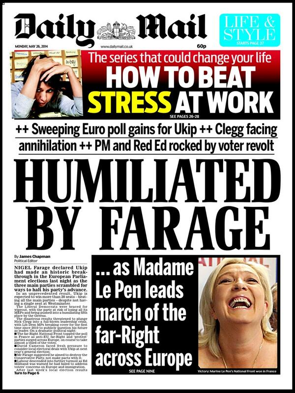 "Neil Henderson on Twitter: ""DAILY MAIL: Humiliated by Farage ..."