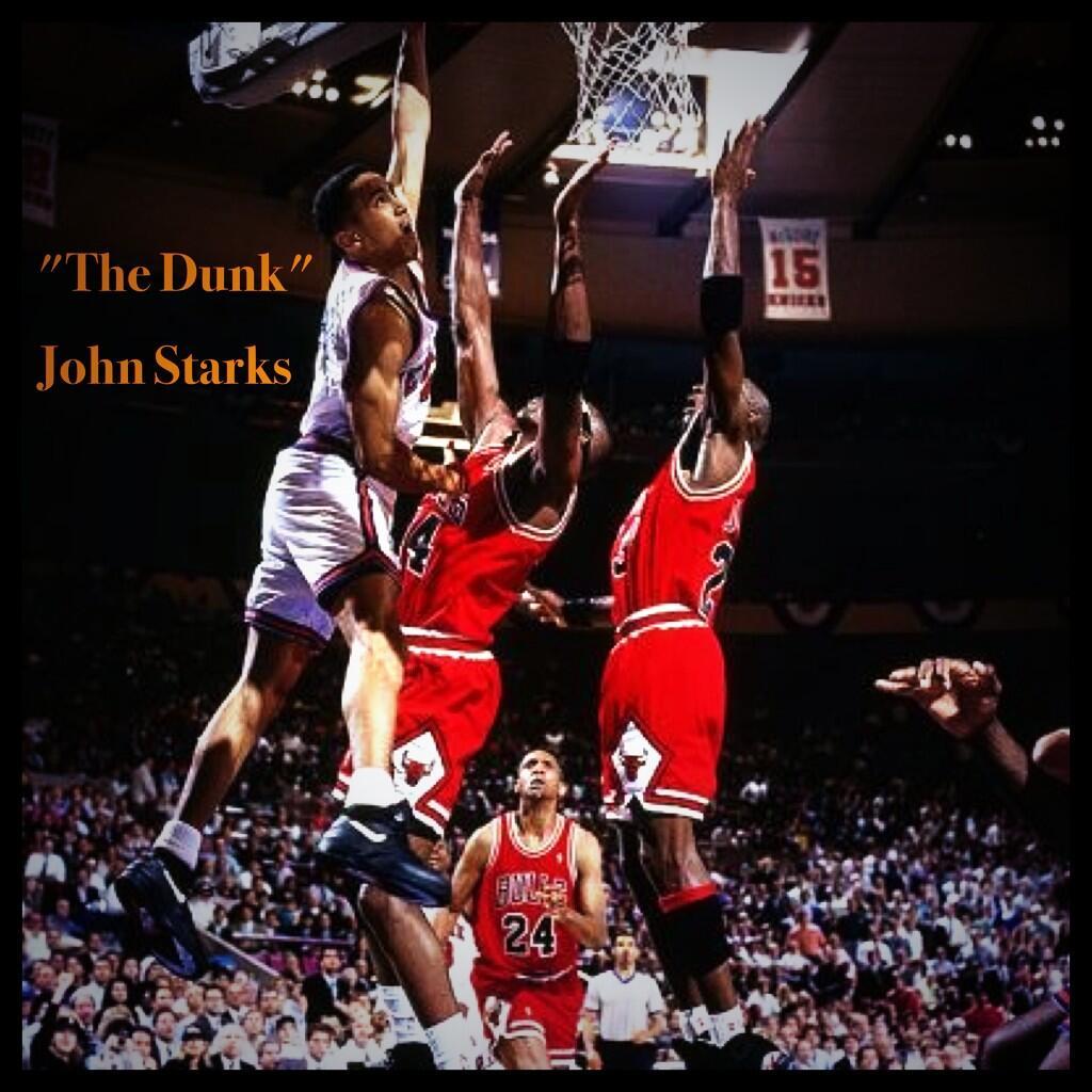 """NYKNotifi on Twitter """"""""The Dunk"""" John Starks"""