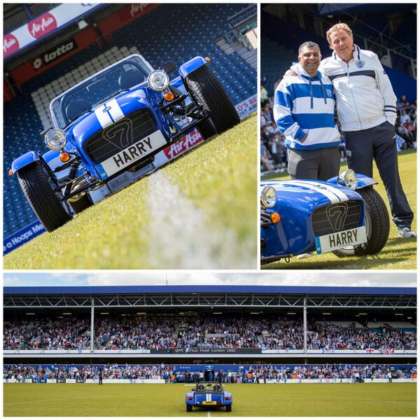 We delivered Harry Redknapp's promotion reward from @tonyfernandes to @OfficialQPR this morning. Congratulations QPR! http://t.co/OaD8tDqqbH