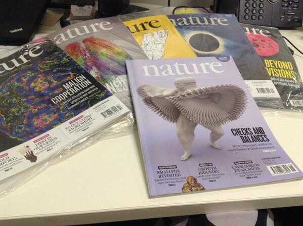 ...And this is the pile of unopened Nature journals on my desk. Did read one on Antibiotic resistance though! http://t.co/iCXdM7BRvr