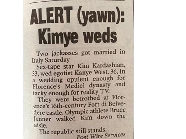 Enthusiastic #Kimye coverage in the @newyorkpost http://t.co/ndqKTDApLn