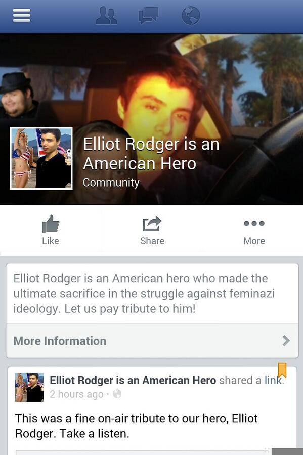 Facebook removes fan pages glorifying California killer