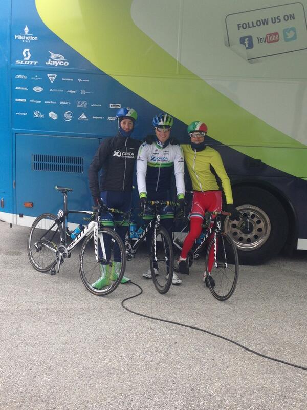 The lone survivors of @ORICA_GreenEDGE Giro crew. http://t.co/mxeCngVPgD