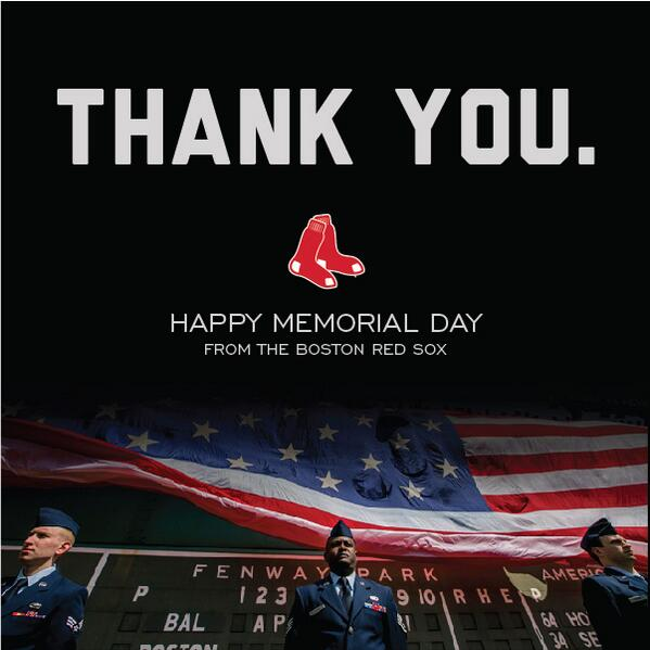 RedSox Thank You To All The Brave Men And Women Who Have Served Continue Serve Our Country MemorialDay Pictwitter 1FACupcpKz