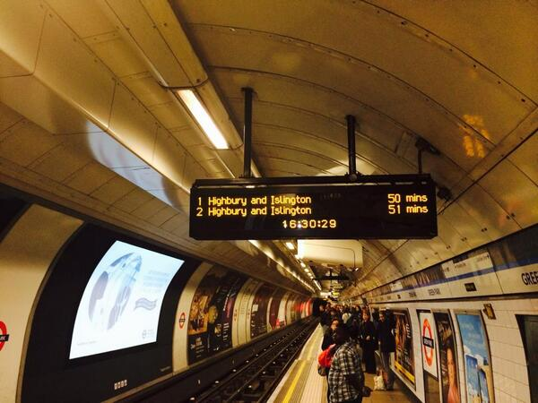You wait for ages for one then two come within a minute of each other - @victorialine Tube taken by @markovenden http://t.co/Mn5wSzxsrS