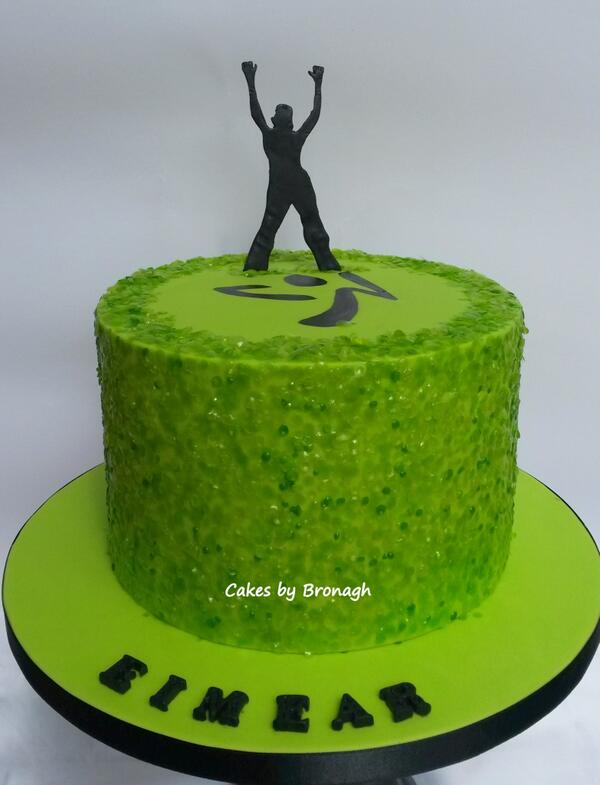 Cakes By Bronagh On Twitter Zumba Themed Birthday Cake For 9 Year