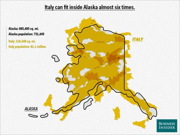 Amazing Maps on Twitter Just how big is Alaska part 2 Source
