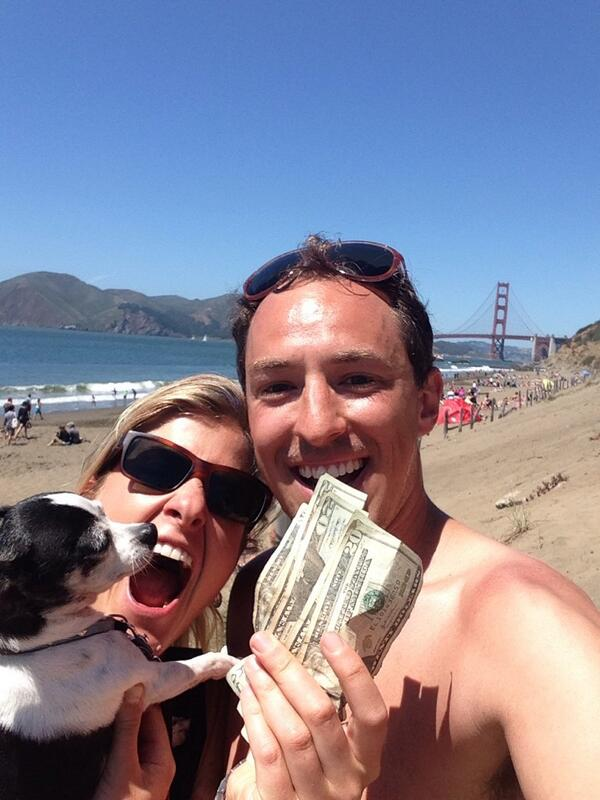 thanks @HiddenCash, sharing most of it with other beachgoers. have a great day! http://t.co/U5HDUTeQDT