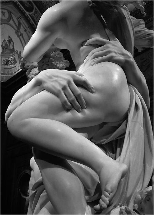 ベルニーニのエロさは異常。何をどうしたら石を彫ってこんなになるのか。