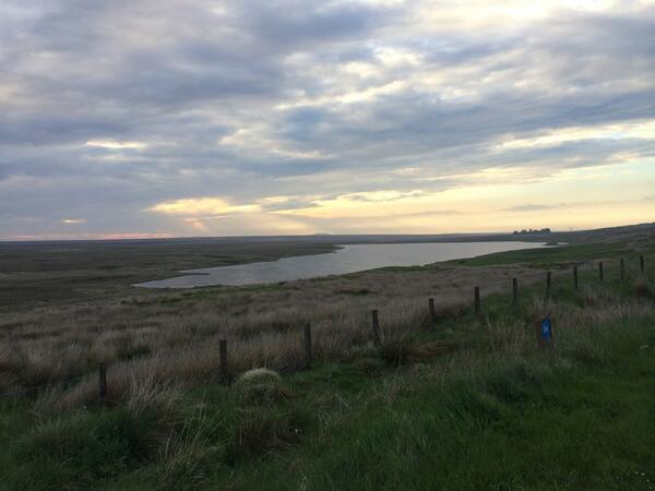 This is absolutely glorious. The final stretch of road to Thurso. Just so vast with beautiful light. http://t.co/OsT389pTjr