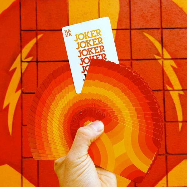 Dropping this Wednesday @DeckStarter are these sick new #playingcards from @Draplin Design Co. Don't miss out. http://t.co/YQC6wNKcfB