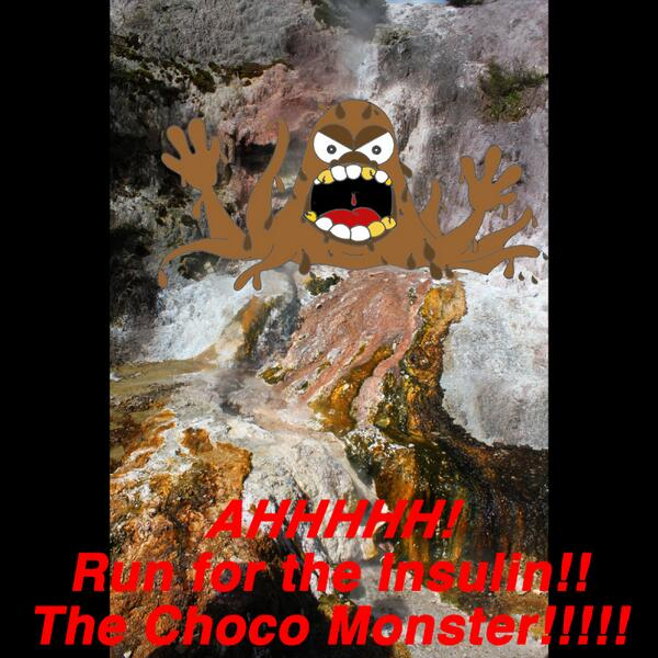 Run for the insulin! !! It's the Choco Monster.  #glutenfree #lifestyle #MemorialDay #allergies #food #foodallergy http://t.co/MUHH3IHM54