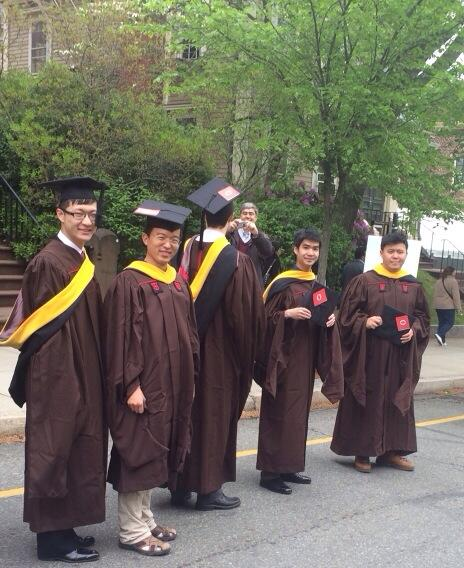 .@BrownUniversity Masters degree recipients ready to go with their #imaginerape0 stickers at #brown2014 commencement http://t.co/4QO04JVpoT