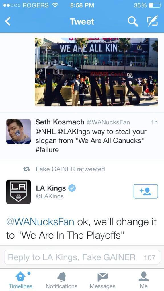 Slow clap to the @LAKings http://t.co/FoDTyv8r4X