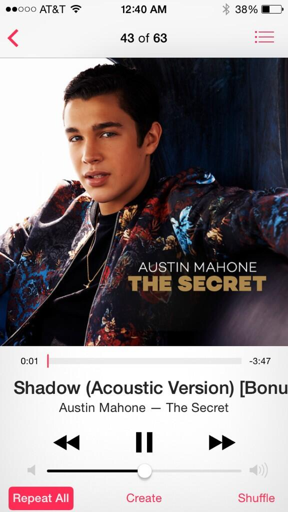 Amazing song dude @AustinMahone  best song in a while. Good vocals too http://t.co/AcsRtR2xvQ