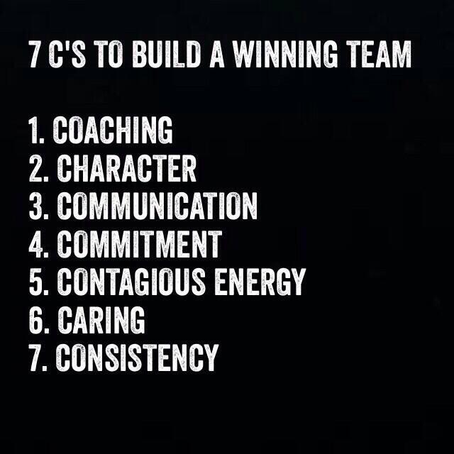 "Motivational Quotes For Sports Teams Last Game: Darrin Gray On Twitter: ""7 C's To Build A Winning Team"