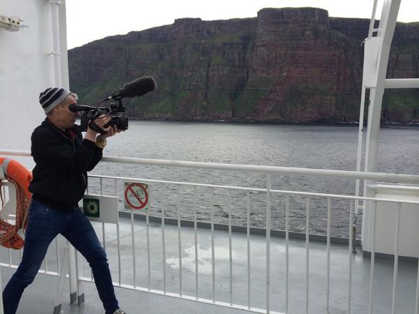 That @Peter__Murray filming over the side of the Orkney ferry. There is a lot of media being made on this adventure. http://t.co/RnEmF3eA2L