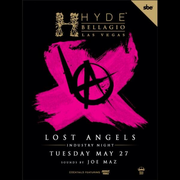 Me & @joemaz takin you Down Unduh tonight at @hydebellagio #lostangels