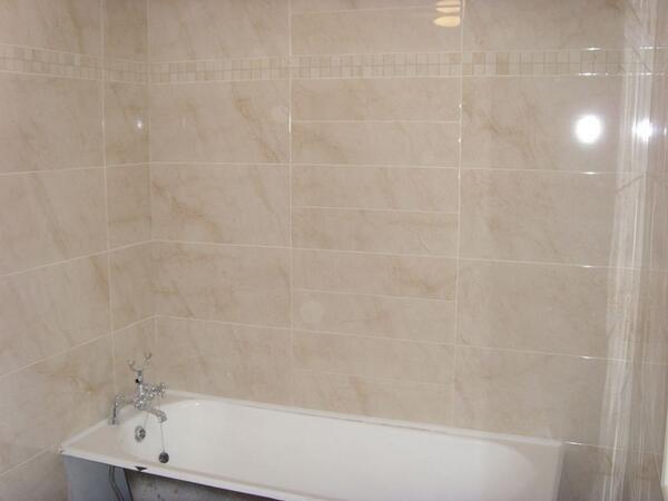 Thomasfarrell Tiling On Twitter Savannah Cream Bathroom With - Curved tile border
