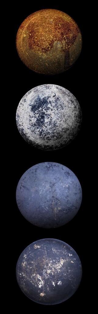 SFチックなCGな『星』に見えるわな。 でもね、これ、現実に存在する物の写真なんですよ。  フライパンの裏なんだってw http://t.co/huO8Hhyf0Z