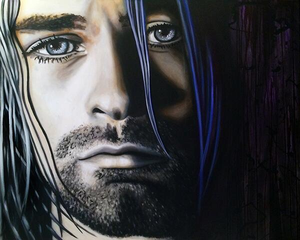 Kurt Cobain is complete!  #art http://t.co/tfYCdDvoNq