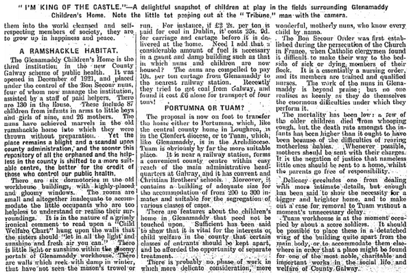 """Children of Misfortune"" (21st June 1924) - an article on the ""The Home"" at Glenamaddy, Co. Galway #CTribune 2/2 http://t.co/AycrcLMxej"