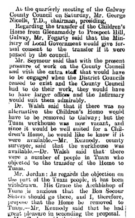 """..the Tuam Workhouse was now vacant, [...] it would be well suited for a Children's Home.."" (1925) http://t.co/67coSnwMYg"