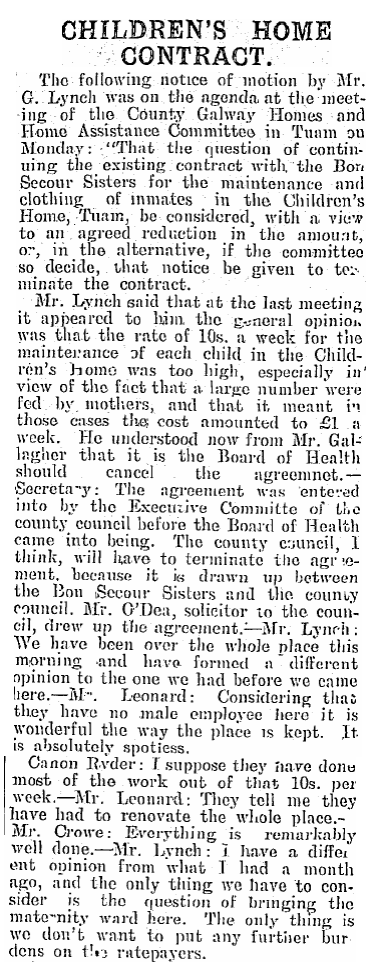 """The only thing is we don't want to put any further burthen on the ratepayers.."" (Connacht Tribune, 1928) #Tuam http://t.co/fprLzmz8LG"