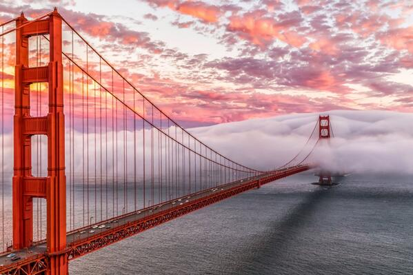 MT @interior The Golden Gate Bridge opened 77 years ago today. Here's an amazing photo @GoldenGateNPS http://t.co/FXy3SRt4kS