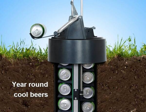 Yes, please! Underground #beer cooler. Only downside...cans only. http://t.co/5HmNCaZrEC #fathersdaygifts #want http://t.co/kmQ5b8R3zM
