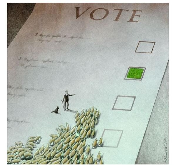 How voting goes. http://t.co/MRLkJHW2RB