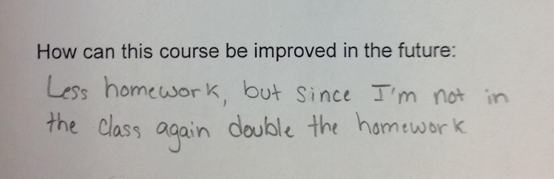 Twitter / Plong42: Best class evaluation comment ...