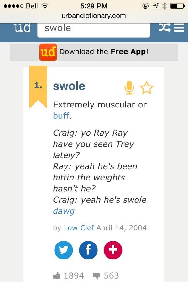 taylor on twitter how urban dictionary defines swole yorayray