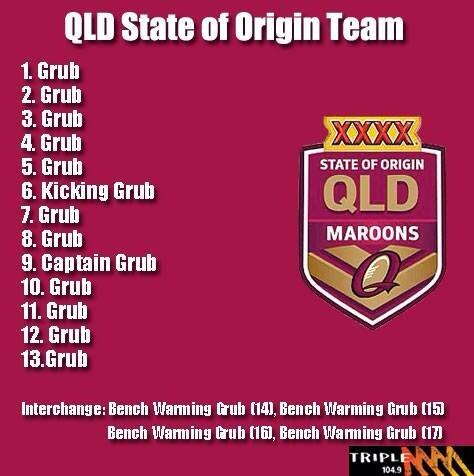Queensland team sheet. #origin http://t.co/ULzNujAp67