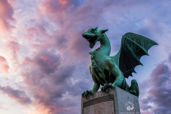 The Ljubljana #dragon symbolises strength, courage and might. RT @lukaesenko The guardian of #Ljubljana #Slovenia http://t.co/aMNA9XhUWx