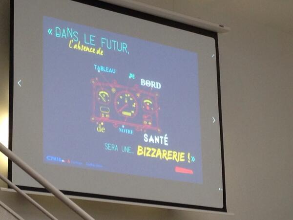 """""""Dans le futur, l'absence de tableau de bord santé sera une bizarrerie"""" @withings #corpscapte @cnil http://t.co/USc692Q6Hj"""