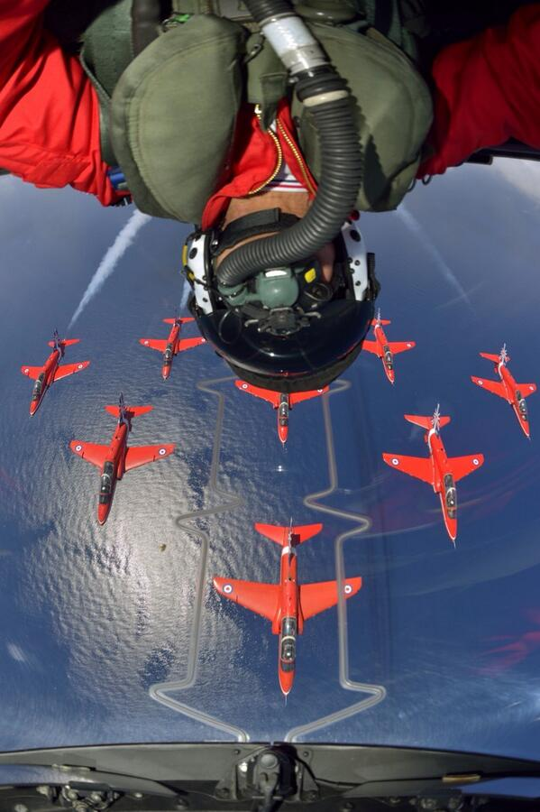 """@ianramsdale: Taking selfies to a new level - The Red Arrows... ""@RAFRed10: Awesome pic by the great @k2dact http://t.co/QTmZUwx4zP"""" :0"