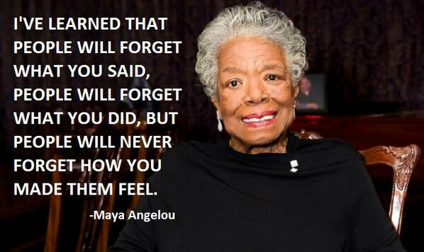 Her words, wisdom, courage and spirituality has greatly contributed to the betterment of humanity. #RIPMayaAngelou http://t.co/wd3KAKUhuG