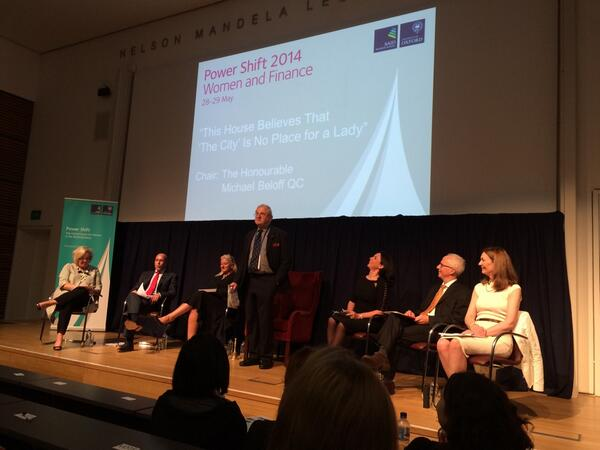 Oxford debate at #PowerShiftForum  on topic of no ladies in the city... http://t.co/IWoGgTmJrh