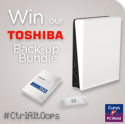 We're putting a stop to #CtrlAltOops by giving away 2x @ToshibaUK Backup Bundles (worth over £200) FLW & RT to enter http://t.co/HS6pOcwPbd