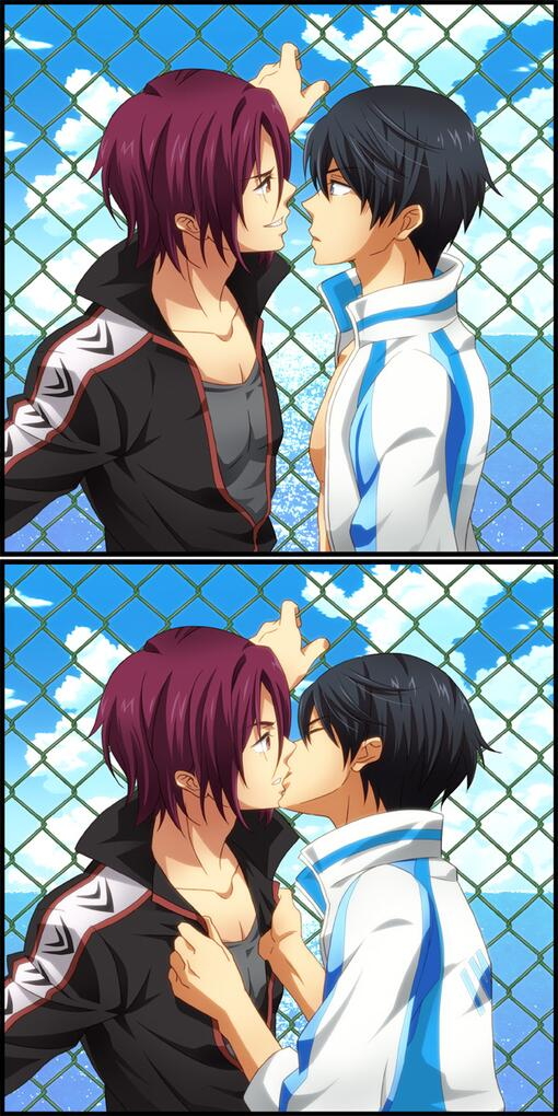 Free! BL♡遙、意表を突く凛へのキス!!