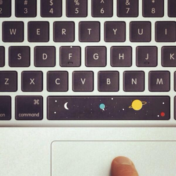 Going to make space bar a reality . It might just be a sticker for now . Who would like one ? http://t.co/KVzFQdDHNI