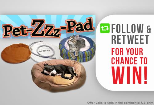 #GIVEAWAY! Follow & RT for your chance to win #AsSeenOnTV Pet ZZZ Pad - the warming #pet bed! http://t.co/uttSa9fN5R http://t.co/EdtDhlQi3x