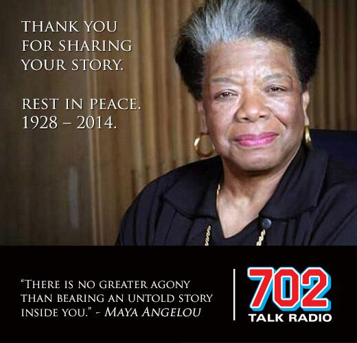 [VIEW] We celebrate your legacy. RIP Maya Angelou. 1928 - 2014. http://t.co/ZR7jItFkWC