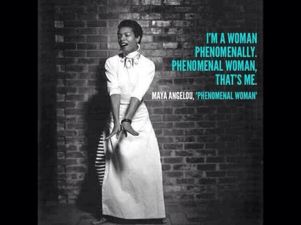 Rip Maya Angelou! I am a woman phenomenally,Phenomenal woman. http://t.co/cCGbrwO3MV