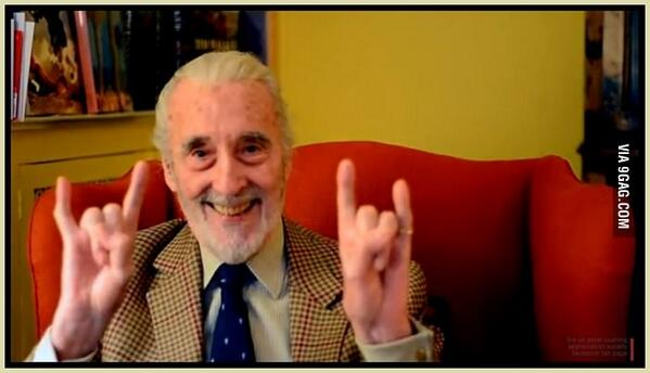Happy 92nd birthday to Sir Christopher Lee http://t.co/hn1qNcQHCN via @9GAG http://t.co/72ocNt5msF