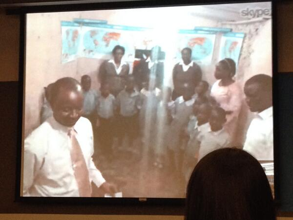 We are skyping with a classroom in Nairobi. So fantastic. @skypeclassroom #skypelab. http://t.co/Jkp7enGRSw