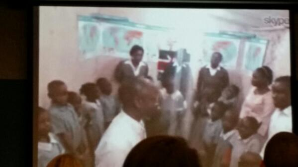 Skyping with a classroom in Nairobi. Video connection is surprisingly good. #skypelab http://t.co/mMBTWkNuqs